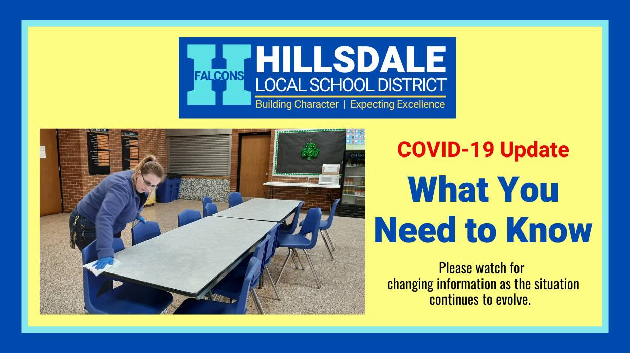 What you need to know about COVID-19 and Hillsdale's Schools closure.